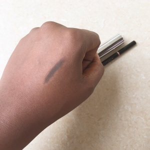 brow wiz swatched on my hand.