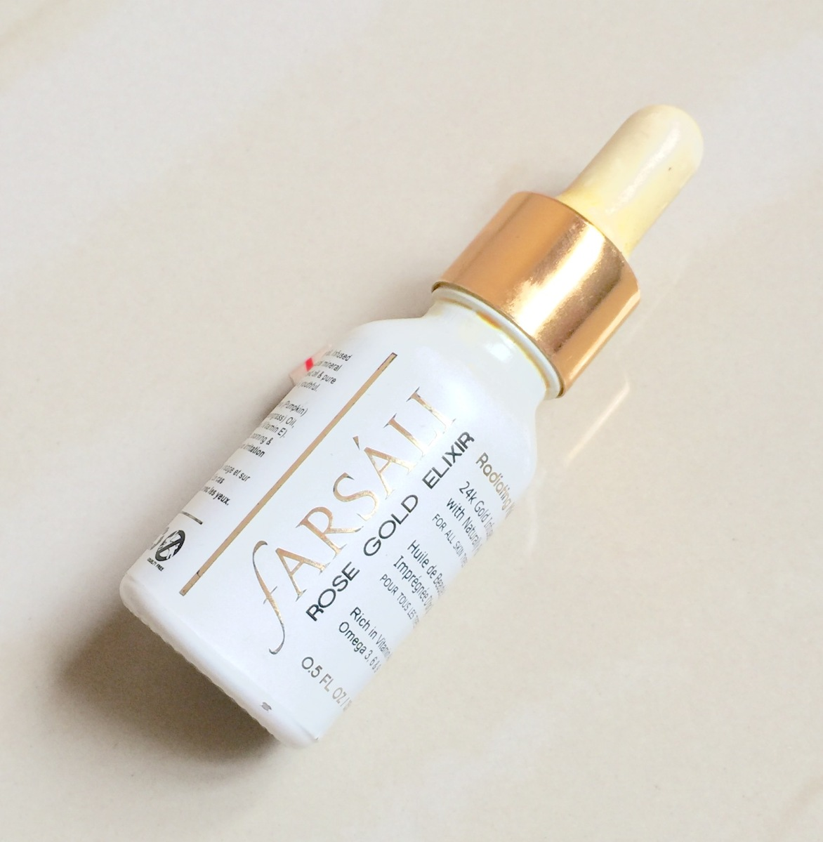 REVIEW - FARSALI ROSE GOLD ELIXIR OIL