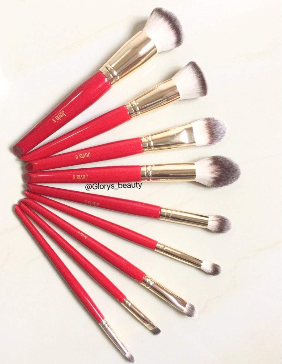 REVIEW - JUVIA'S 9PCS BRUSH SET.